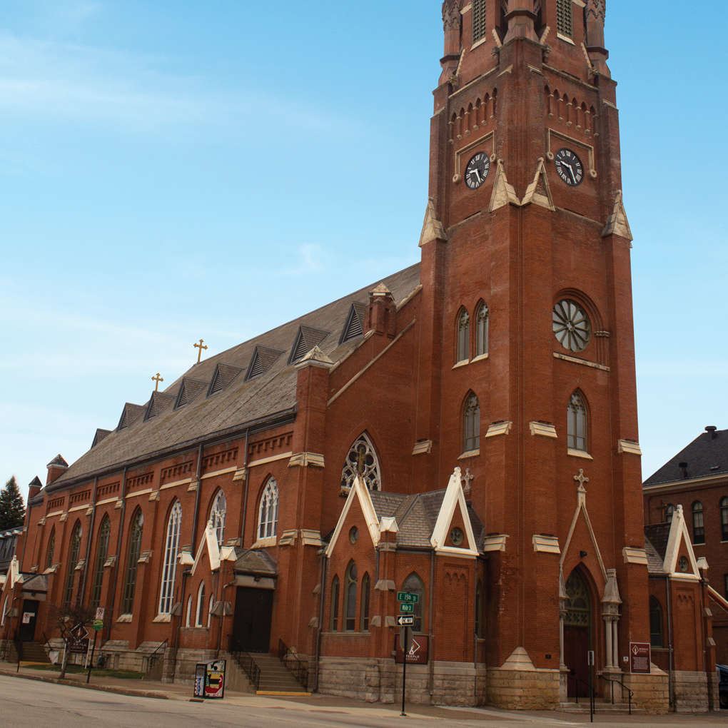 The former St. Mary's church is the most iconic part of our campus. It was built over 150 years ago.