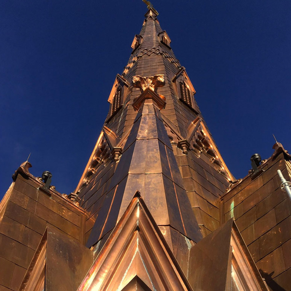 Renovation of Steeple Square's iconic steeple – copper to last another 100 years
